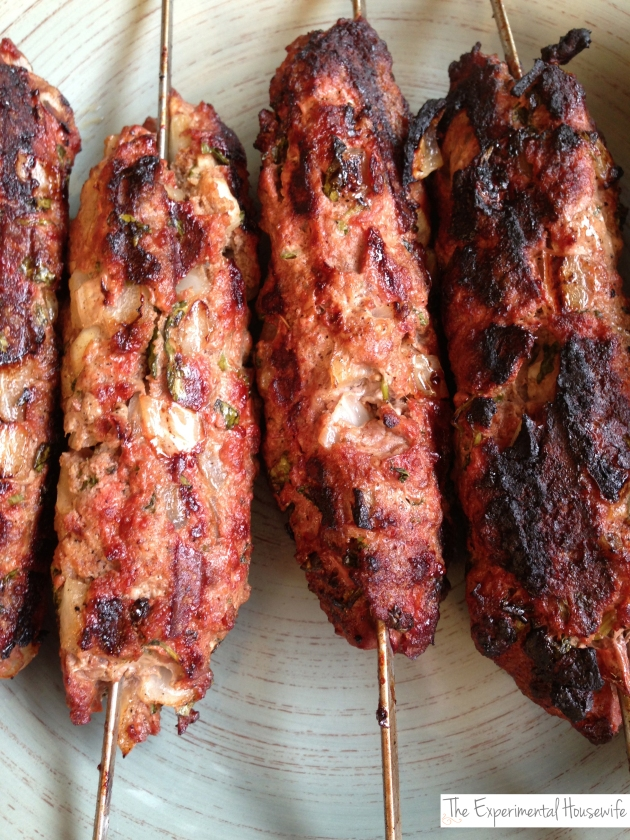 ground beef kebabs at the experimentalhousewife.com