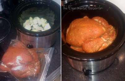 Winner Winner Chicken Dinner! 2 Meals, 1 Bird! Roast Chicken in the crock pot, and Tuscan Chicken Stew at the experimentalhousewife.com
