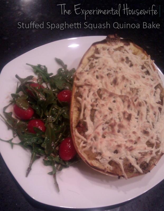 Spaghetti Squash Quinoa Bake @ the experimentalhousewife.com