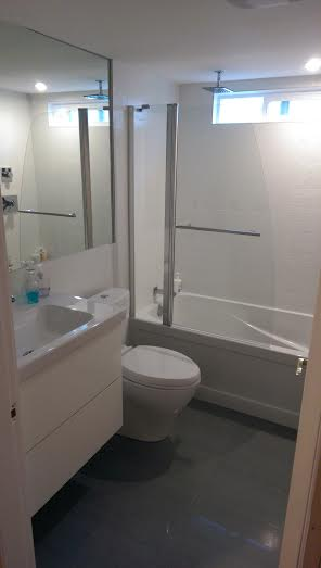we finished the bathroom