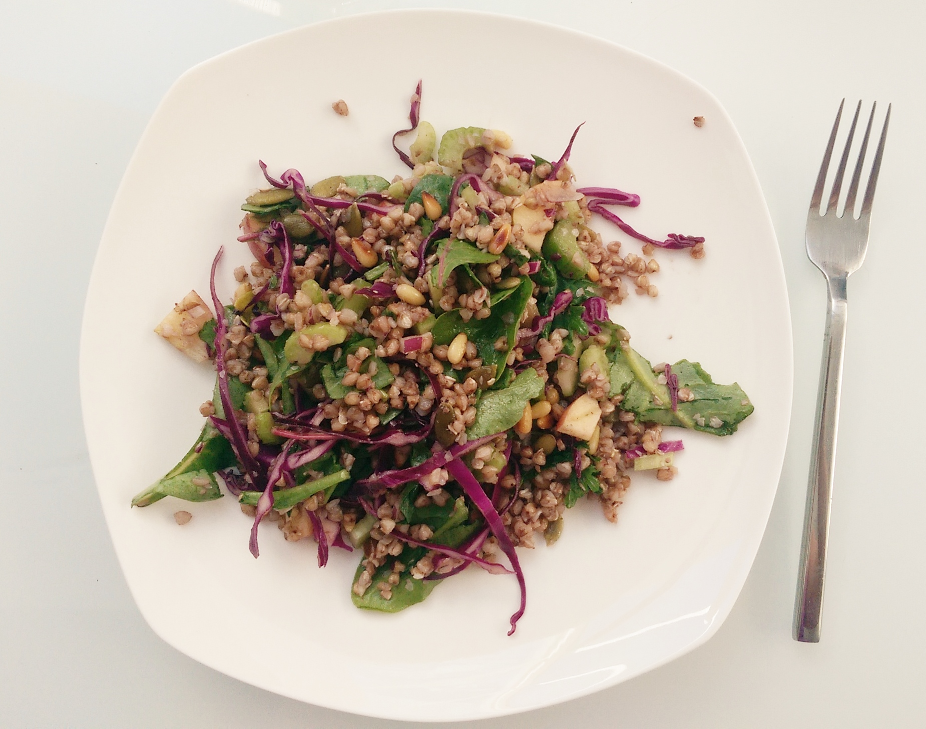 Buckwheat Waldorf Salad - a filling vegan option for Meatless Monday! Super easy and delicious